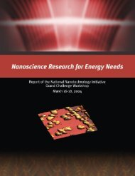 Nanoscience Research for Energy Needs - Office of Science - U.S. ...