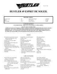 hustler 49 esprit de soleil - Funboats