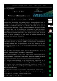 Military Medical Ethics - Academic Foresights