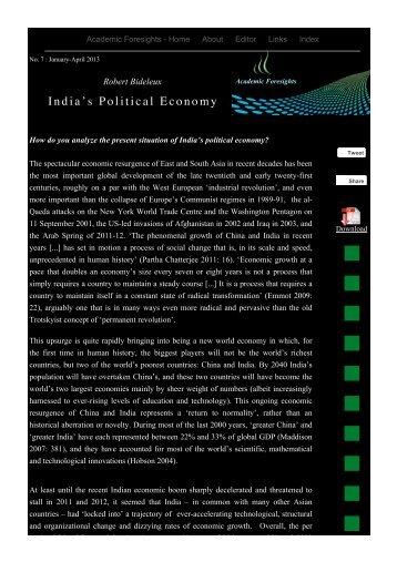 India's Political Economy - Academic Foresights