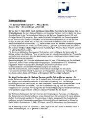 Pressemitteilung: - Architekten- und Ingenieur-Verein zu Berlin eV