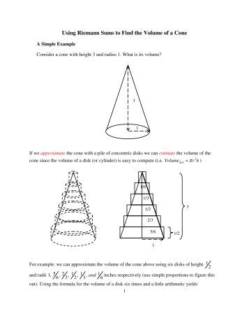 how to find the volume of s cone