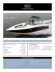 276 SPECIFICATIONS COBALT OUTSTANDING POINTS