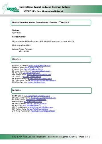 SC Telecon Minutes 17 April 2012 ( pdf , 68 kB ) - Cigre