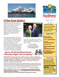 Sydney Newsletter Issue Number 1, July 2013 - Rotary District 6360