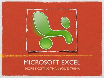 MICROSOFT EXCEL - Rotary District 6360