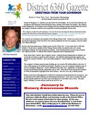 January 2008 - Rotary District 6360