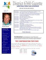 November 2007 - Rotary District 6360