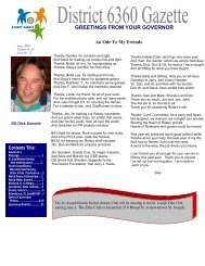 Green Gray 4-page Newsletter - Rotary District 6360