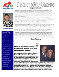 April 2009 - Rotary District 6360