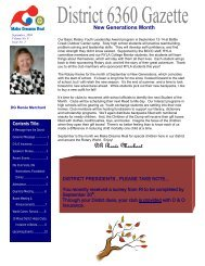 September 2008 - Rotary District 6360