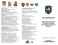 Philosophy on Early Training for the Younger Player - NY ELITE FC
