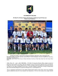 U13 Boys Empire Cup Champs, Head to US Club ... - NY ELITE FC