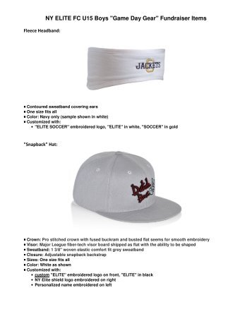 specific product details and photos. - NY ELITE FC