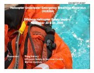 Helicopter Underwater Emergency Breathing Apparatus - Offshore ...