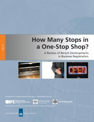 How Many Stops in a One-Stop Shop? - Investment Climate