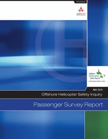 Passenger Survey Report (PDF) - Offshore Helicopter Safety Inquiry