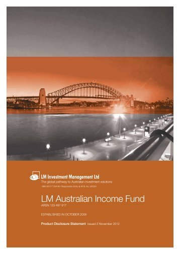 LM Australian Income Fund - LM Investment Management