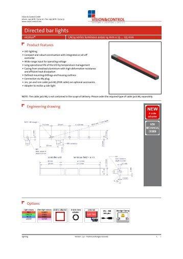 Datasheet - vicolux® LAL14 series 14 mm x 25 ... - Vision & Control