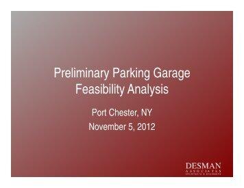 Preliminary Parking Garage Feasibility Analysis - Village of Port ...