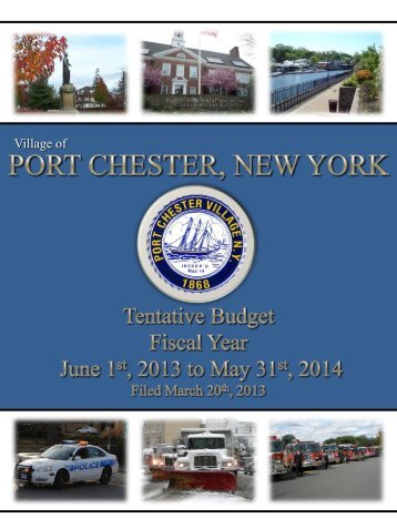 2013 - 2014 Tentative Budget - Village of Port Chester