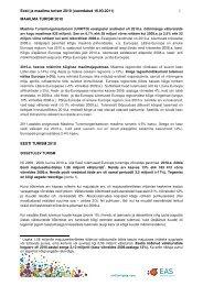 Eesti ja maailma turism 2010 (uuendatud 16.03 ... - Visitestonia.com