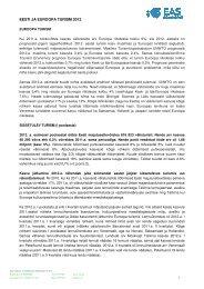 EESTI JA EUROOPA TURISM 2012 - Visitestonia.com