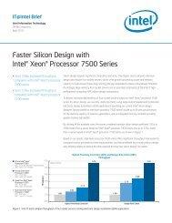 Faster Silicon Design with Intel® Xeon® Processor 7500 Series