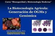 La Agricultura Biotecnológica: Generación de - LAC Biosafety