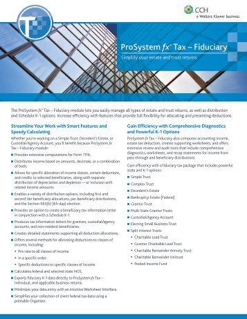 ProSystem fx® Tax – Fiduciary - CCH