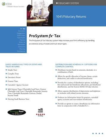 ProSystem fx® Tax - CCH
