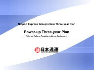 Nippon Express Group's New Three-year Plan[PDF 429KB]