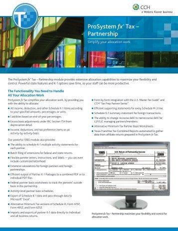 ProSystem fx® Tax – Partnership - CCH