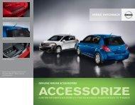 2012 Nissan Versa Hatchback | Accessories Brochure | Nissan USA