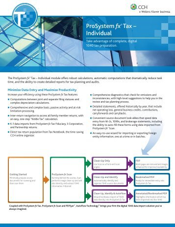 ProSystem fx® Tax – Individual - CCH