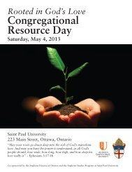 Download Brochure - Anglican Diocese of Ottawa