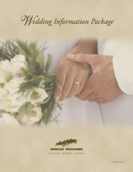 Wedding Information Package - Spruce Meadows Shop