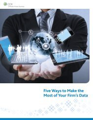 Five Ways to Make the Most of Your Firm's Data - CCH