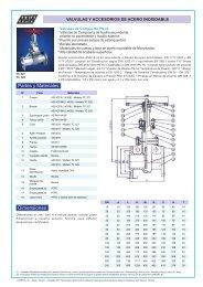 Válvulas y accesorios de acero inox - COMEVAL
