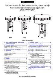 Actuadores neumáticos para válvulas de globo todo ... - COMEVAL
