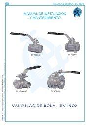 VALVULAS DE BOLA - BV INOX - COMEVAL