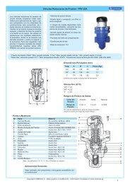 Válvulas Reductoras de Presión - PRV 25A - COMEVAL