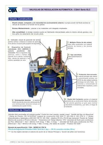 Válvulas regulación automática - COMEVAL