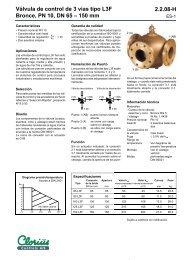 Válvula de control de 3 vías tipo L3F, Bronce, PN 10 ... - COMEVAL