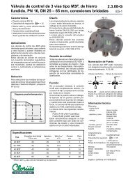 Válvula de control de 3 vías tipo M3F, de hierro fundido ... - COMEVAL