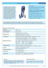 Válvulas de Control - Series 440/441 - COMEVAL