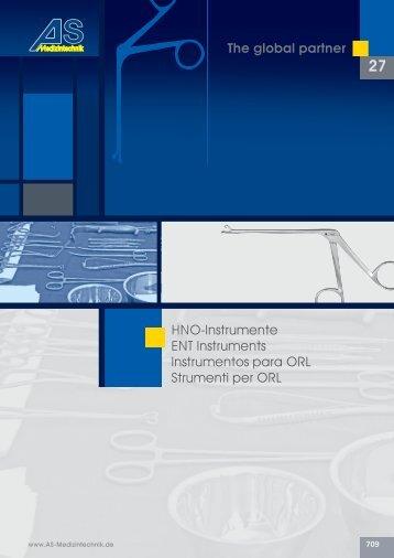 HNO-Instrumente ENT Instruments Instrumentos ... - Hospimed CZ