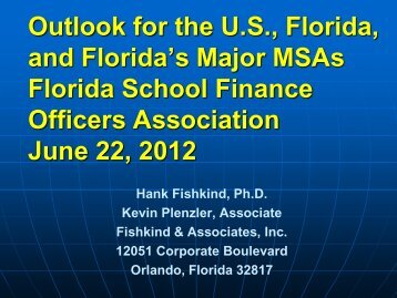 Revenue Trends and Economic Update - Florida School Finance ...