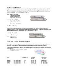 Water Filters and Cleaners - Eastern