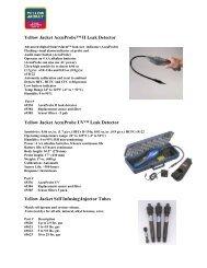 Yellow Jacket AccuProbe™ II Leak Detector - Eastern